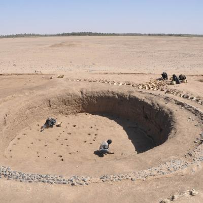 View of one of the most ancient royal grave found in the Sudan, ca. 2050 BCE.